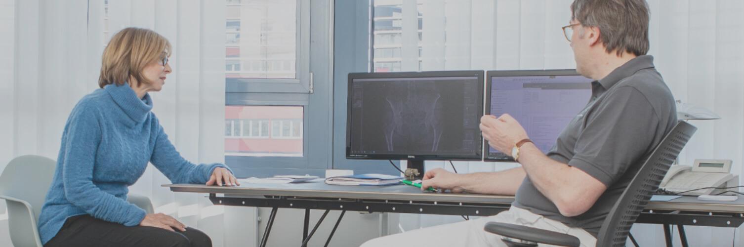 Orthopädische Beratung zu Hüftschmerzen